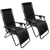 Wholesale Zero Gravity Chairs Case Of Black Lounge Patio Chairs Outdoor Yard Beach New