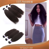 human hair bulk - Sale Kinky Straight Weft Grade a Unprocessed Virgin Human Hair Bulk Good Quality Hair Extension
