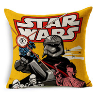 Wholesale 2016 Star Wars Pillow Covers creative cartoon Pillow Cover The Avengers superhero pillow cover american flag pillow cover