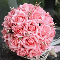 Cheap 2016 Bouquet De Mariage Artificial Small Wedding Bouquets For Bridesmaid Accessories Handmade Rose Flowers Bridal Bouquets Ramos De Novia