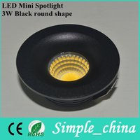 Wholesale CE Approved Under Cabinet Light Puck Light TH03CY W Black Round Shape Mini Recessed LED Kits Warm Cold White Spot light