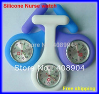 Wholesale Muti color Silicone Nurse Brooch Watch Jelly Quartz Watch colors available