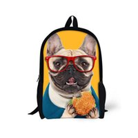 american boy book - Designer Dog Hamburger Children School Backpack for Boy Girls Kids Book bags Animals Mochila School Kids Rucksack Shoulder Bag