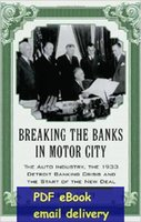 bank industry - Breaking the Banks in Motor City The Auto Industry the Detroit Banking Crisis and the Start of the New Deal
