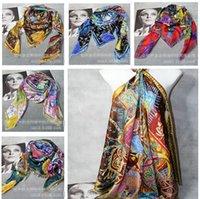 silk twill scarf - 5 colors Cavaliers du Caucase Cashmere Silk Shawl Scarf CM big size luxury scarves Twill silk silk Scarves christmas gift m506