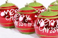 ball quote - cm Mixed Color Christmas Balls For Christmas Tree Ornaments Decoration Supplies Hangings English Quote Merry Christmas