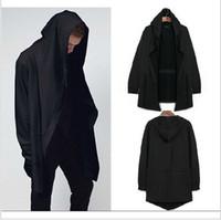 Wholesale Original design men s clothing sweatshirt spring autumn hoodie men hood cardigan mantissas black cloak outerwear oversize new