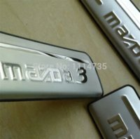 Wholesale high quality So cool Stainless steel Entry threshold Door Sill Scuff Plate for Mazda Axela M3054
