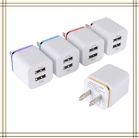 Wholesale Universal A US Dual USB AC Power Adapter Wall Charger Plug port for Samsung S4 S5 IPAD iphone MQ1000