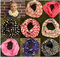 chevron print - 30 Colors New Fashion Infant Toddlers Wave Loop Chevron Infinity Scarves Baby Accessories cm