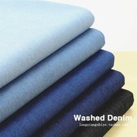Wholesale Spring blast wave single Class A South Korean exports soft stretch denim fabric in the thick solid
