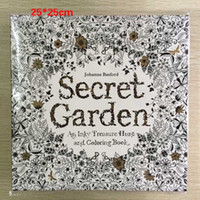 english books - Secret Garden Pages Coloring Book English Edition Kill Time And Stress Relief Tool For Adult and Children Graffiti Painting Book