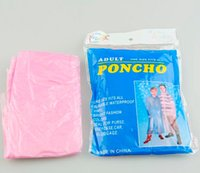 disposable rain poncho - Hot Disposable PE Raincoats Poncho Rainwear Travel Rain Coat Rain Wear