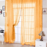 Wholesale Floral Tulle Voile Door Window Curtain K5BO