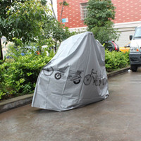 Wholesale 210 cm Waterproof Dust and Rain motorcycle and Bicycle Cover and Protector Gray White