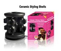 hair salon equipment - New Brand Solid Ceramic Tourmaline Styling Shells Magic Hair Curler pro Salon Equipment Salon ceramic styling shells V V