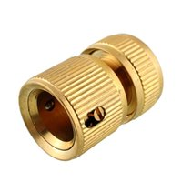 Cheap Nrand New Hot Useful Copper Metal Threaded Water Pipe Connector Tube Tap Snap Adaptor Fitting Outdoor