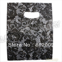 plastic carrier bags - 180pcs Flower Printed Plastic Recyclable Useful Packaging Bags Shopping Hand Bag Protable Boutique Gift Carrier