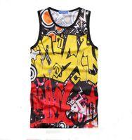Cheap Raisevern new men's 3D tank tops sport vest fitness sleeveless t shirt top unisex tank tops sportswear for men women