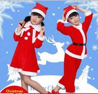 Wholesale Girls take Halloween dress up Santa Claus clothes children Christmas shows