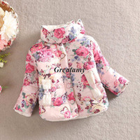 kids winter jackets - 2014 new Girls thicken warm coat girls winter cotton padded clothes Children Clothing kids flower outwear baby girl s jacket