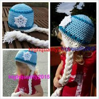 Cheap Snow Queen Elsa crochet Hat , Children's girls Hat - Toddler to Teen Adult 100% cotton, Birthday Party Dress