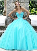 Cheap Baby Blue Cheap Quinceanera Dresses Made in China 2015 Sweetheart Crystal Beadings Girl Prom Dress Blue Organza Quinceanera Ball Gowns CQ10