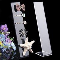 Wholesale Black Clear Flat Acrylic Display Stand Jewelry Hairpin cm Shelf Storage Rack Jewelry Holder Headband Hairpin Holder Headdress Display Rack