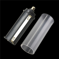 battery tube case - Hot sale in white casing battery sheath tube Plastic Battery Holder Case Box AAA for Flashlight Torch Lamp order lt no track