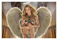 Cheap Hot Sell Print Art Beautiful Nude Naked Angel Cross HD Prints Oil Painting On Canvas Never Fade...8X12 inch