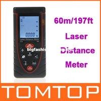 Wholesale 60m ft Handheld Laser Distance Meter Rangefinder Range Finder with Bubble Level Area Volume Measure