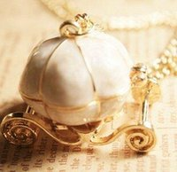 angel - 15 off New sweet Cinderella fairy tale pumpkin carriage alloy chains necklace sweater pendants