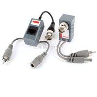 av transceiver - 2 CCTV Coax BNC UTP Passive Audio Video AV Power Balun Transceiver