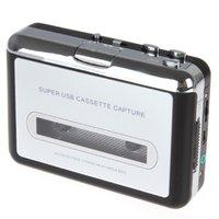 al por mayor casetes de auto-2015 Bienes Turntable Mini Dv Cassette USB portátil de casete Reproductor Capture Grabadora Tape Converter Mp3 Auto Reverse estéreo Hi-fi Mega Bass