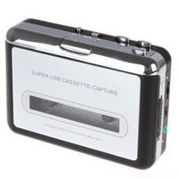 Wholesale 2015 Real Turntable Mini Dv Cassette Portable Usb Cassette Player Capture Recorder Converter Tape To Mp3 Auto Reverse Stereo Hi fi Mega Bass