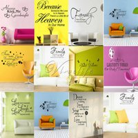 american art supplies - Family DIY Removable Art Vinyl Quote Wall Stickers Decal Mural Home Kids In Room Decor Favor Supply order lt no track