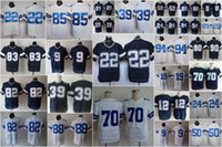 Wholesale Cheap Men Elite American Football Jerseys Navy Blue White Home Away Jersey