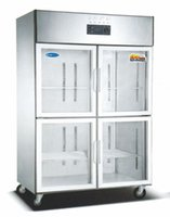 seafood - commercial icebox freezer used in kitchen and restaurant hotel seafood storage