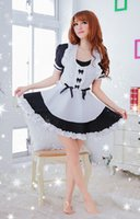 wholesale ds games - Sexy Maid Dress Cafe Servant Work Uniform Cosplay Theme Party Clothes DS Stage Costume Game Suit Via DHL