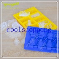 Wholesale DHL Freeshipping High quality hot Building blocks LFGB block brick Ice Mold Silicone Ice Cube Tray