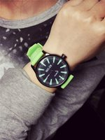 acrylic table tops - 2016 Hot Sale Top Fashion Business Unisex Miller Color Jelly Table Silicone Large Dial Ice Cream Mixed Colors Students Watch Miss Han Ban