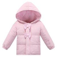 bebe xs - Soft Infant Fashion Autumn Winter European Style Baby Cotton Jacket Brand Pink Baby Girl Coat Newborn Clothing Bebe Clothes