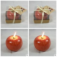 Wholesale 2014 Apple molding process Arts crafts candles Birthday celebration Christmas new year formal party decorationd gifts topB926 box