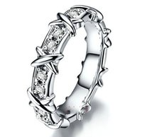 designer inspired jewelry - Lady s Silver Filled CZ Crystal Stone Wedding Band Ring Designer inspired Brand Jewelry