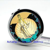 art deco round mirror - Aphrodite Compact Mirror Art Deco Flapper Girl Pocket Mirror Vintage style women s accessory Small Cosmetic Mirror