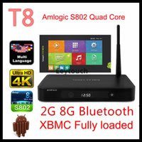 color tv - S802 T8 TV Box Metal Materials Support USB DISK and USB HDD Android KitKat OS Gold and Black Color Quad Core TV Box XBMC13 Kodi14 P
