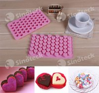 Wholesale Heart Shape Mould Silicone Heart Cake Chocolate Cookies Ice Cube Soap Jelly Baking Mould Tray Free DHL Factory Direct