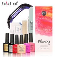 Wholesale New Arrival Sapphire UV Gel Kit Soak off Gel Polish Gel Nail Kit Nail Art Tools Sets Kits Manicure Set