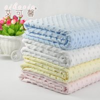 Wholesale Baby Blankets Cellular Cotton Basket Soft And Comfortable Baby Blankets Plush Size x cm Blankets Baby Blanket