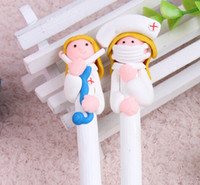 Wholesale DHL Doctors and nurses Souvenirs Nurses Day Gift Fimo gift pen Hospitals and clinics gifts Nurse Pen